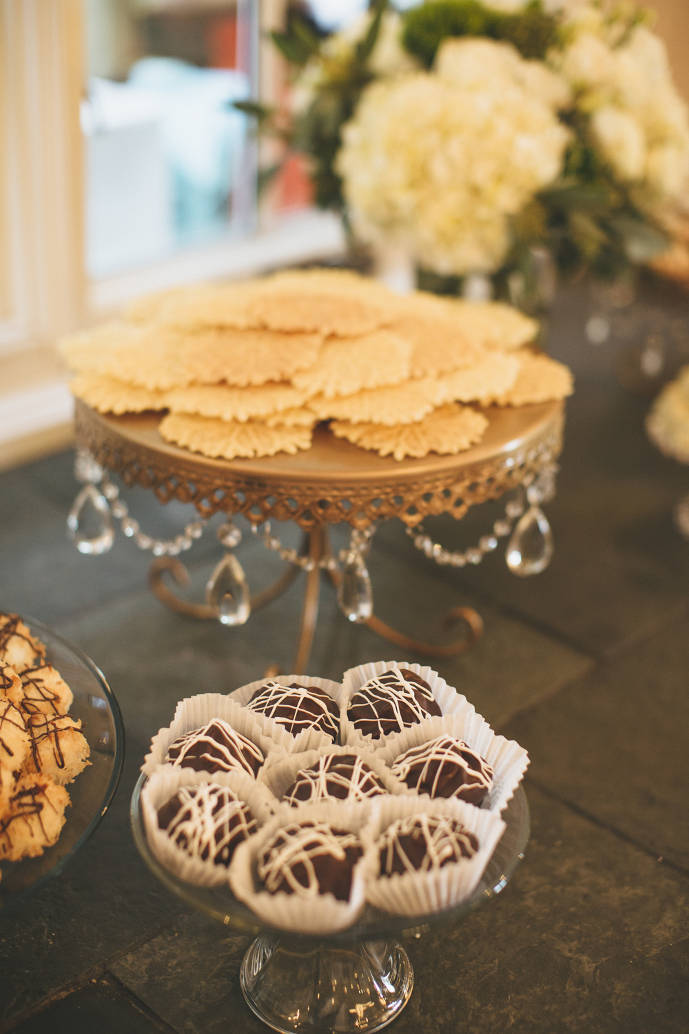Dessert Buffet Display at DeLille Cellars Wedding