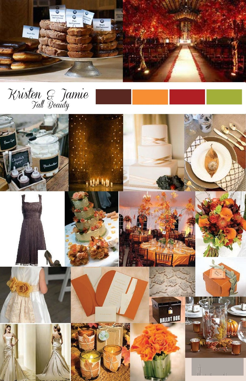 Original inspiration board designed by New Creations Weddings | Fall Wedding Inspiration |