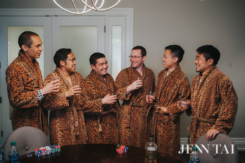 Groomsmen Robes | Seattle Wedding Planner | Chinese Wedding Planner