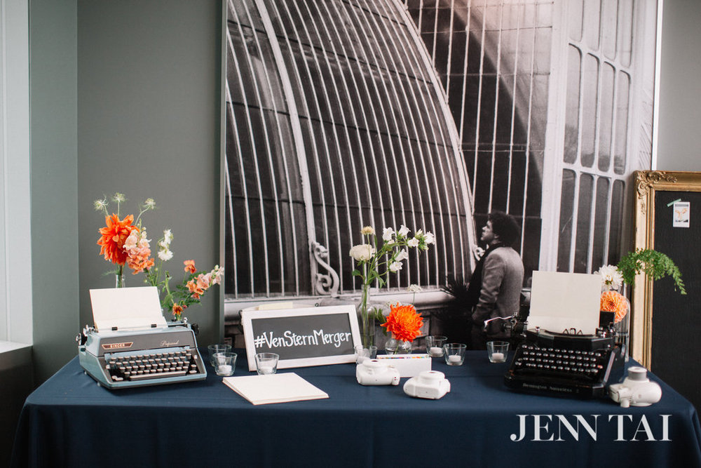 Typewriter Guest Book | Unique Guest Book Ideas | Seattle Wedding Planner