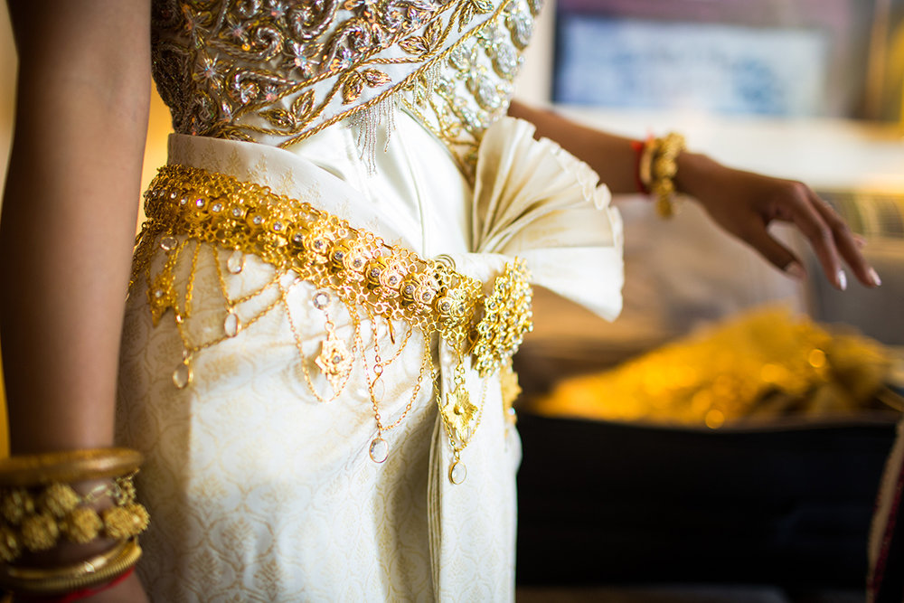 Cambodian Wedding Dress at Annie Wright Schools in Tacoma