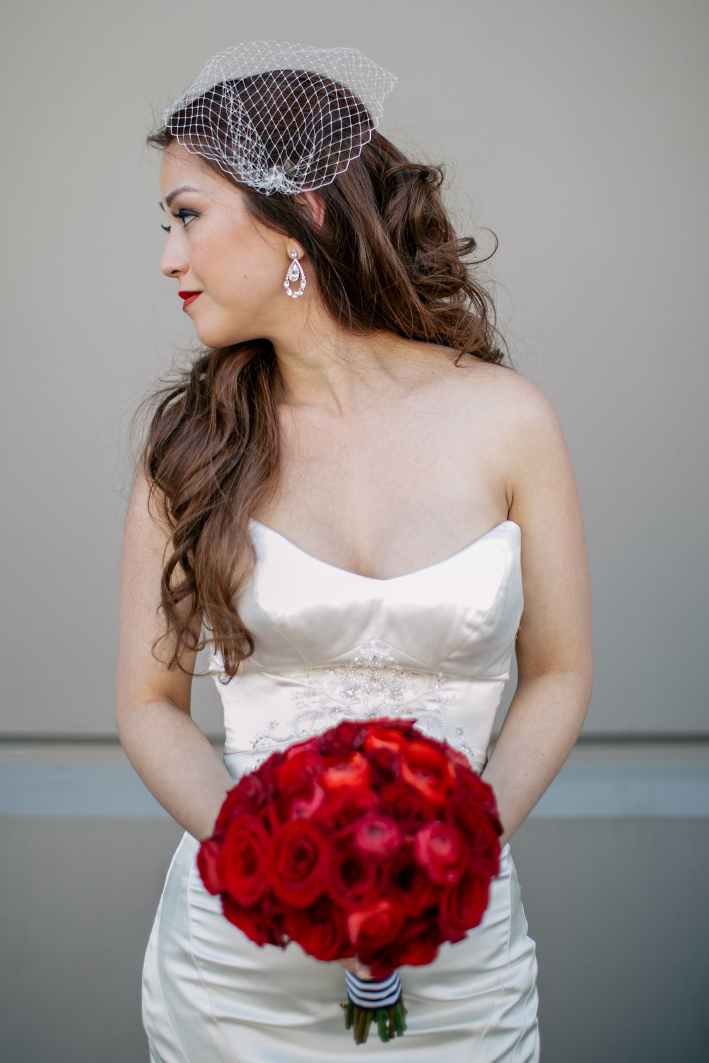 Red Rose Bridal Bouquet by Sublime Stems