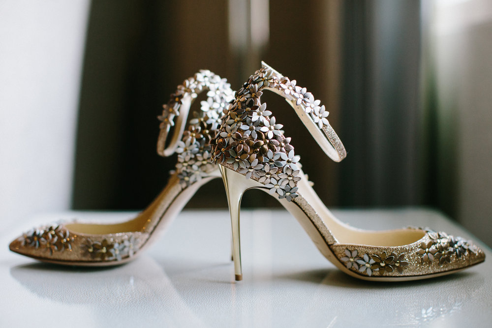 Gorgeous Wedding Day Heels Mimic the Look of Flower Petals