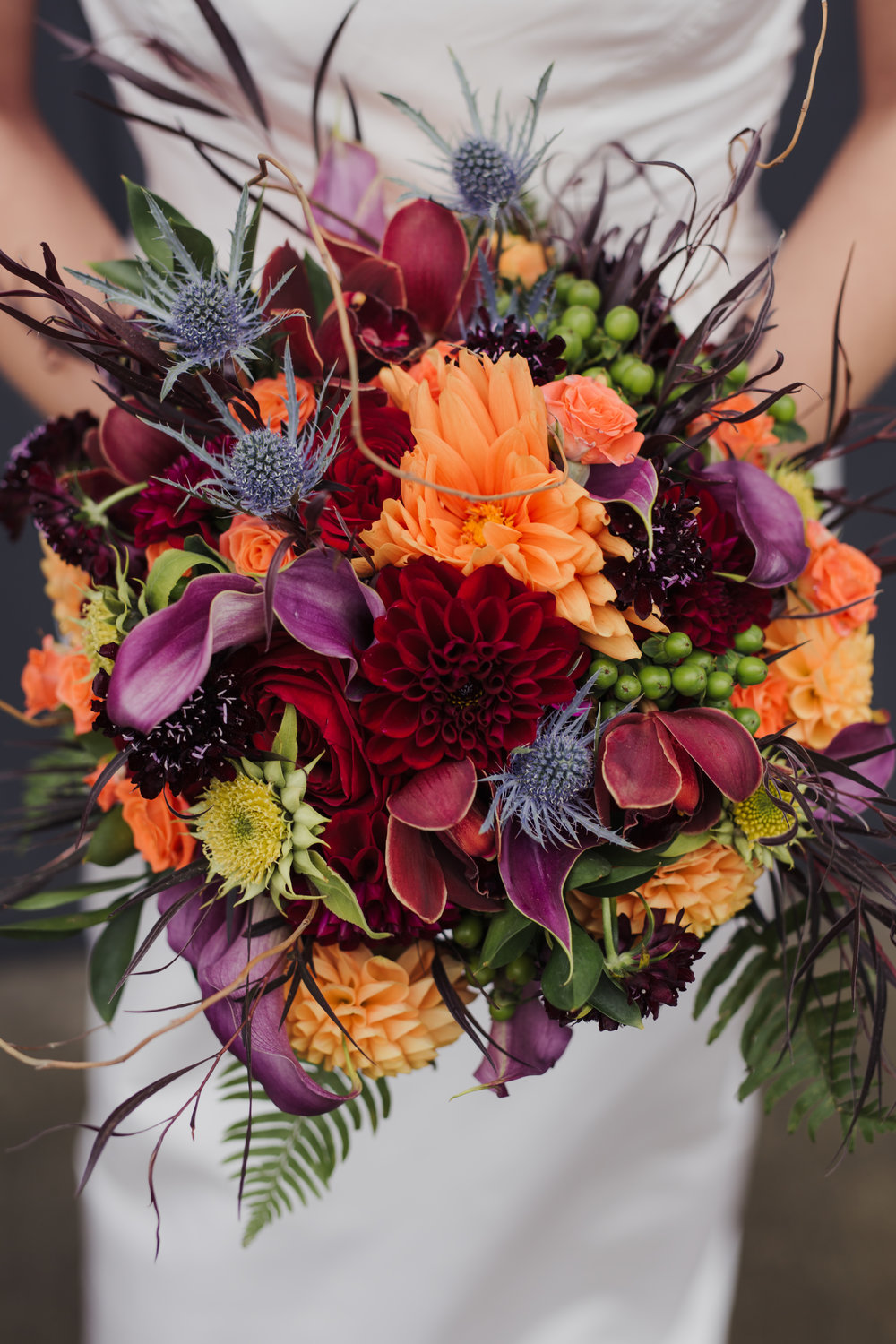 Stunning Fall Wedding Bouquet by Sublime Stems