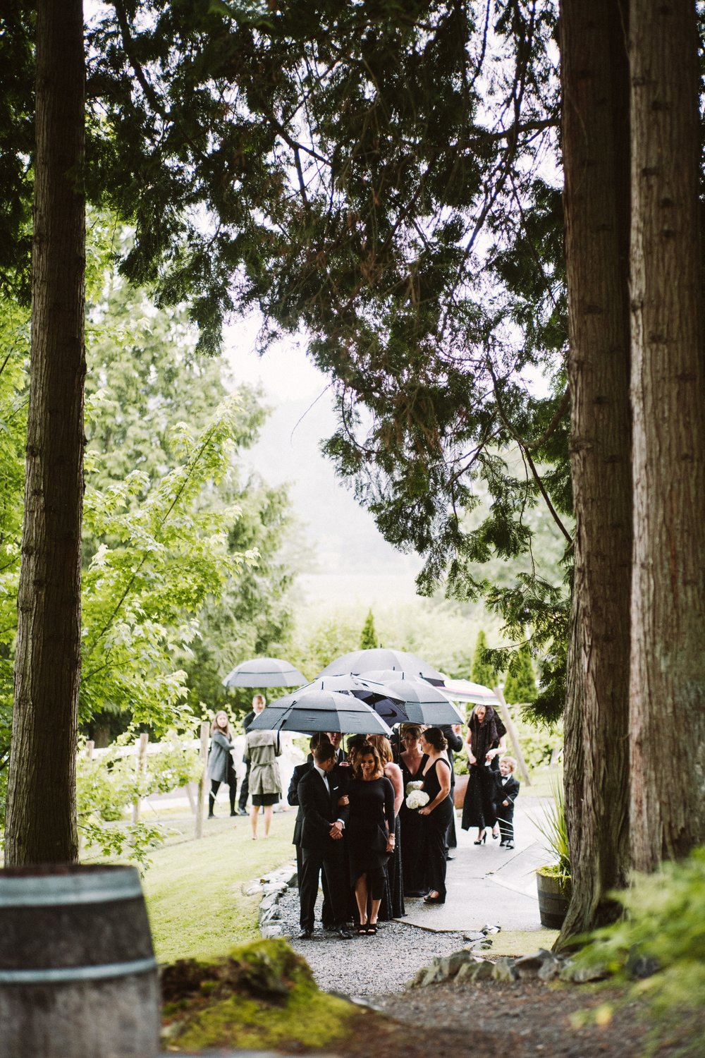 Romantic Rainy Wedding Day at DeLille Cellars