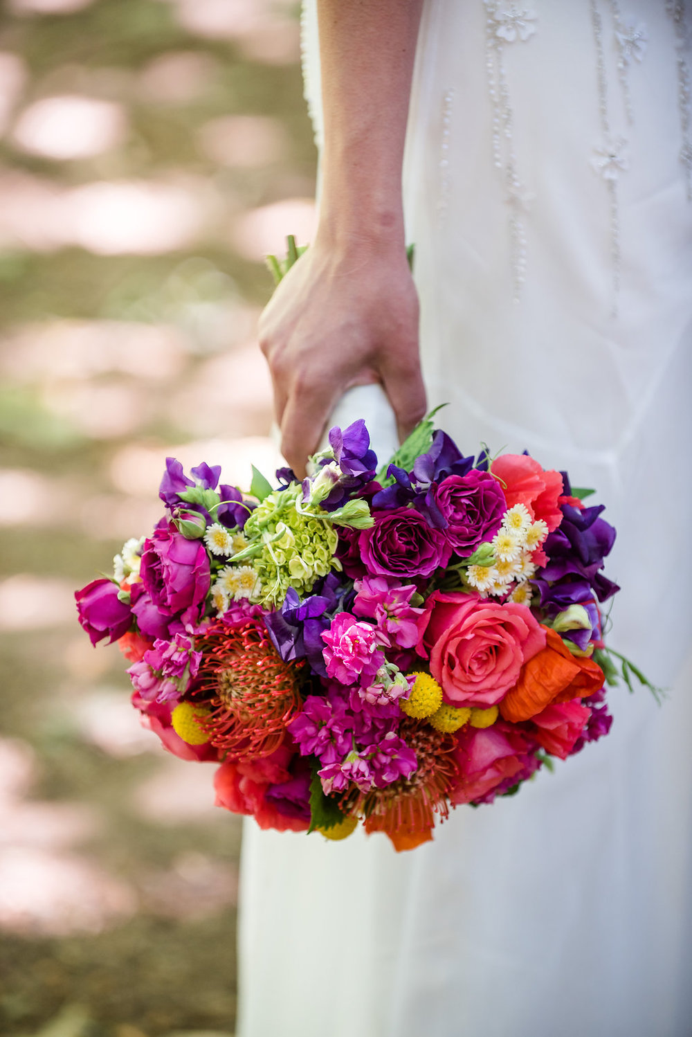 Bold, Bright, Tropical Wedding Bouquet