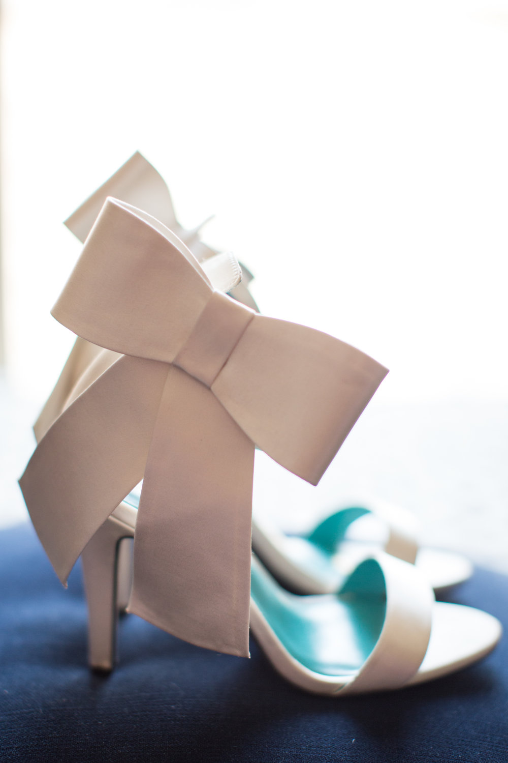 Stunning Brides Wedding Shoes with Bow for this Axis Pioneer Square Wedding Day