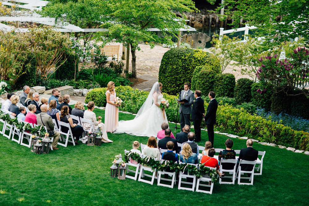 Romantic Garden Ceremony and Roche Harbor Wedding