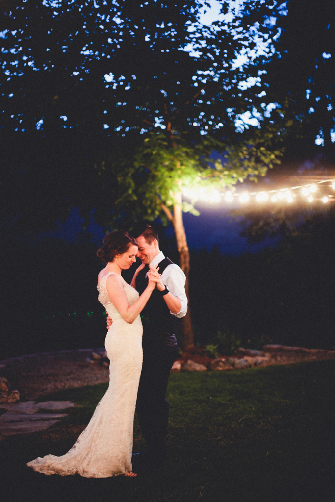 Cafe Lighting at this Rustic, PNW Leavenworth Wedding