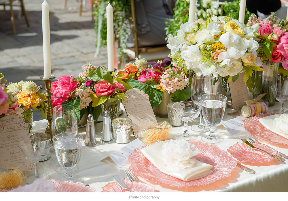 DeLille Cellars Wedding in Yellow, Pink, White and Green