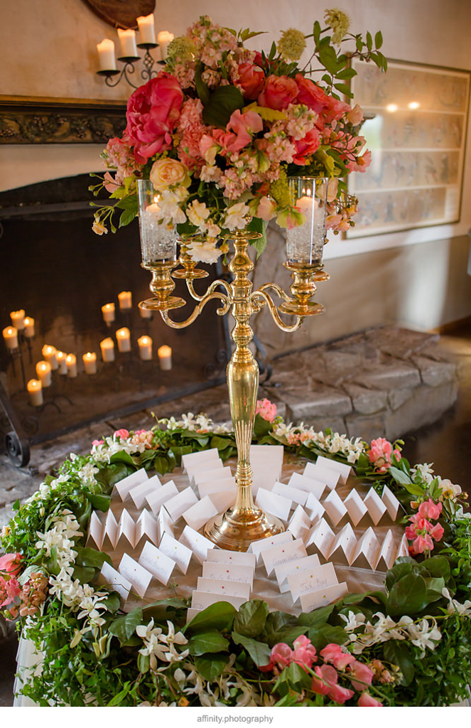 Escort Card Display Table at DeLille Cellars wedding
