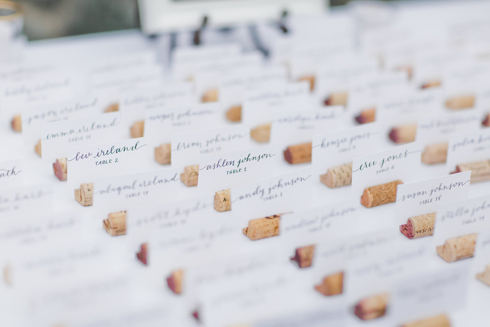 Cork Escort Card Holders