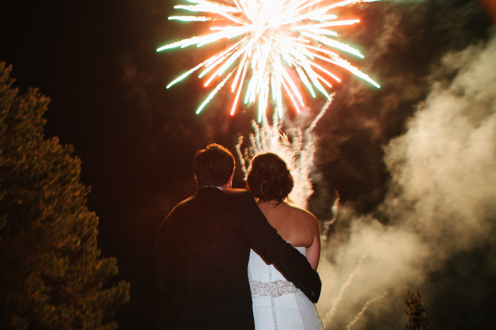 Spectacular Firework Send Off at Kiana Lodge Wedding