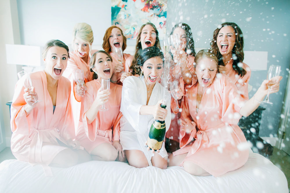 Champagne Bridesmaids Photo at The Woodmark Hotel- The One That Started Them All