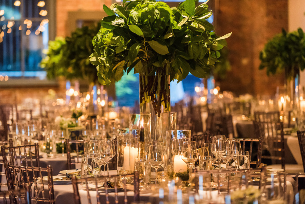 Candle and Greenery Wedding Centerpiece.jpg