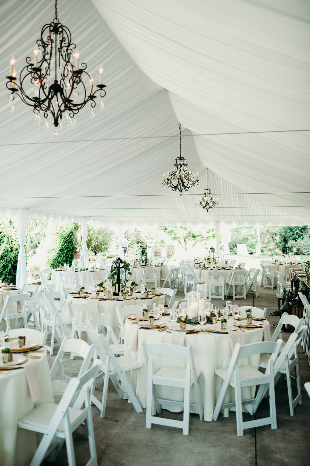 Garden Style Wedding Tent at Laurel Creek Manor Wedding