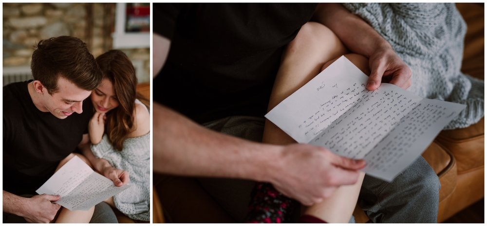 Courtney & Steve | Cozy In-Home First Anniversary Session | Lancaster PA Wedding Photographer