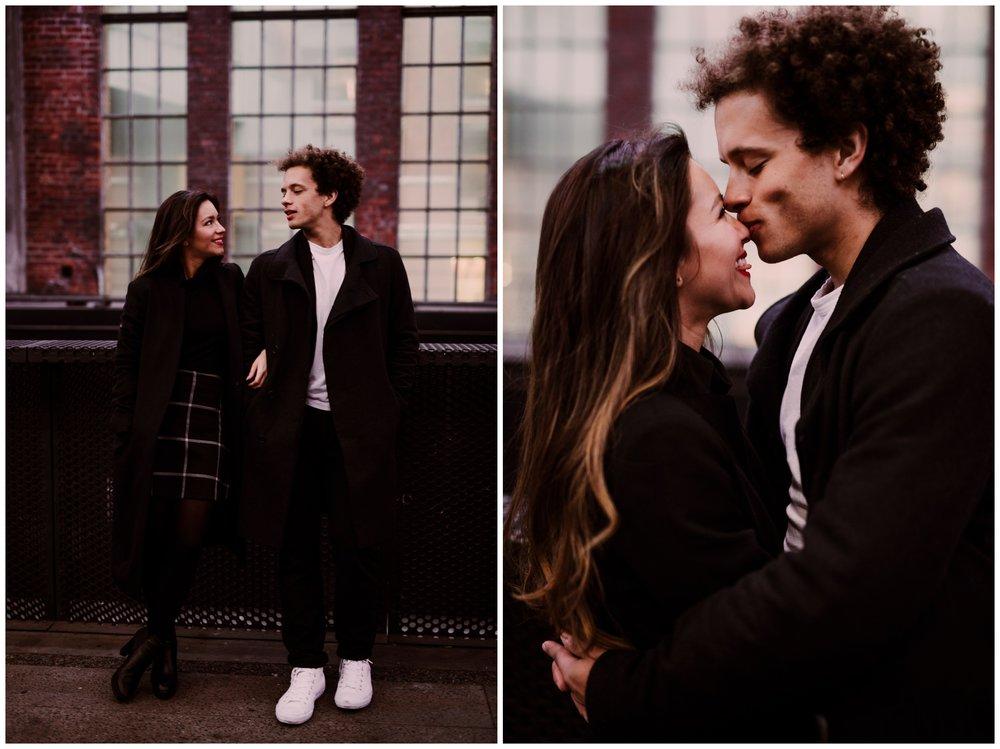 Grace and Damon | Stylish Chelsea NYC and Hoboken Engagement Session | NYC Wedding Photographer-24.jpg