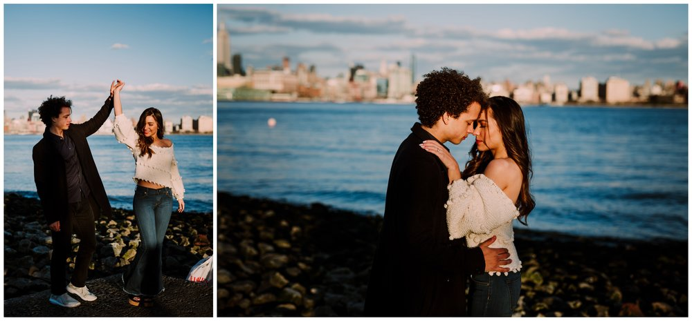 Grace and Damon | Stylish Chelsea NYC and Hoboken Engagement Session | NYC Wedding Photographer-74.jpg