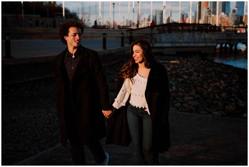 Grace and Damon | Stylish Chelsea NYC and Hoboken Engagement Session | NYC Wedding Photographer-88.jpg
