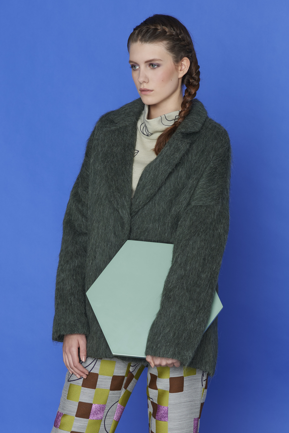 blouse, trousers ACEPHALA, coat KAROLINA SCIPNIAK