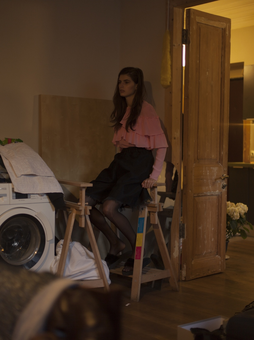 Top YASYA MINOCHKINA, Shirt MARQUES ALMEIDA, Shoes BESSARION