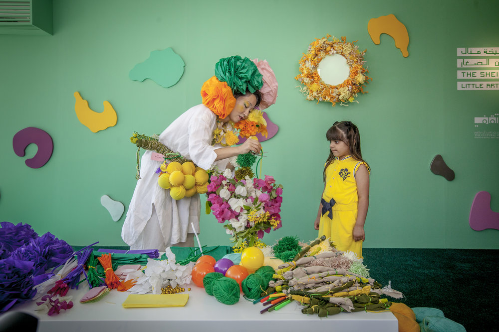 Sheikha Manal Little Artist Programme_The Healing Garden by Hiromi Tango_Art Dubai 2018_Courtesy of Photo Solutions.JPG
