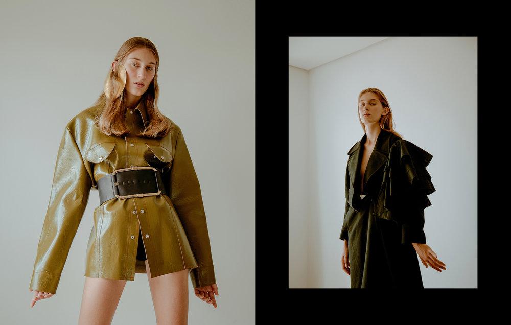 Casaco Brechó Seff, Brinco Bia Brennheisein, Cinto Morena Rosa  Trench Coat Calvin Klein