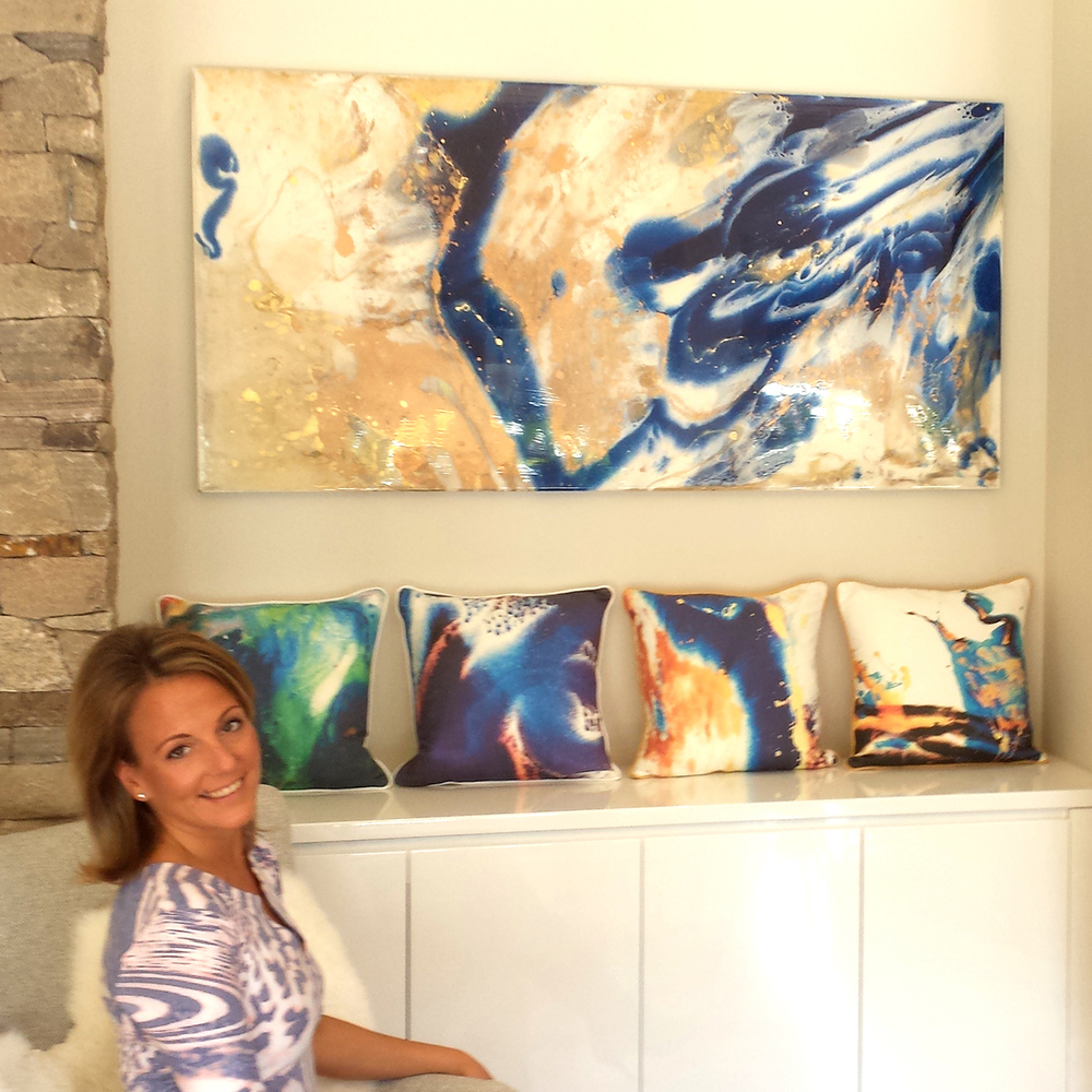 Olivia Collins Art & Design Resin Art and Heritage & Home Cushions