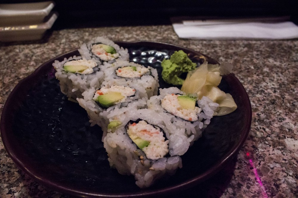 California roll in all its glory.