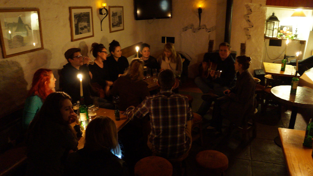 Friday celebrations at Blackbird Pub in the costal town of Ballycotton.