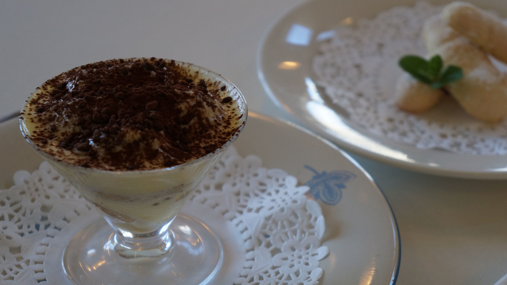 Tiramisu based on said biscuits.