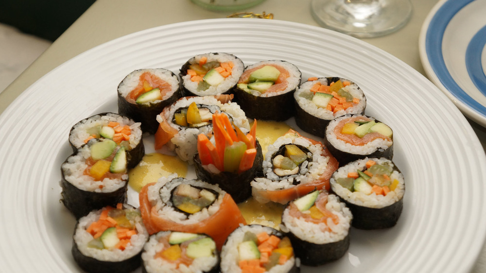I love making sushi.