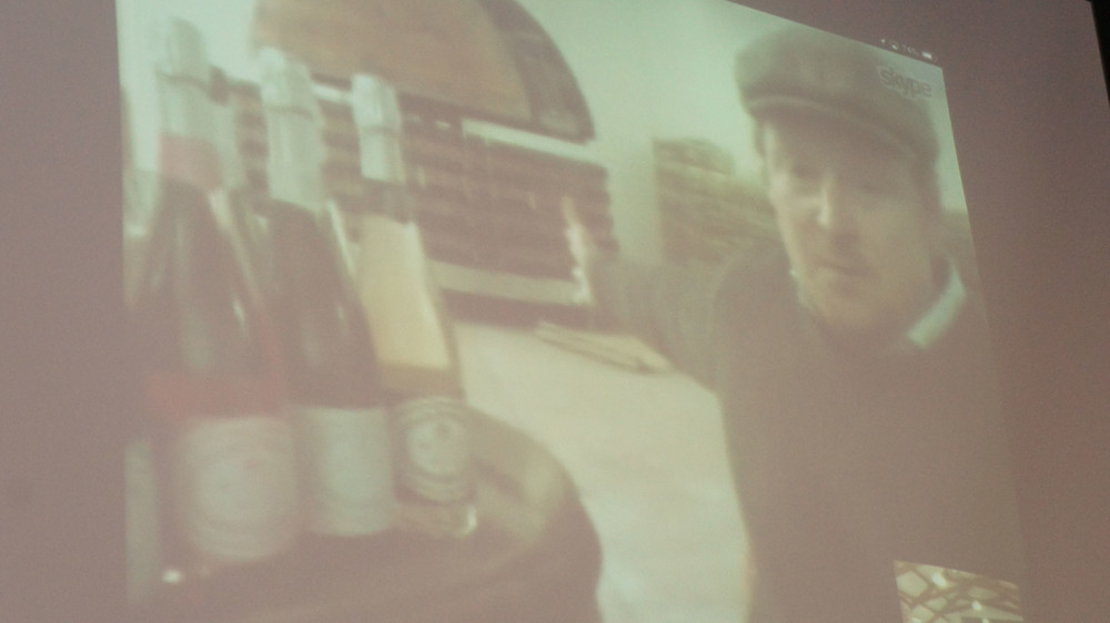 Skype session with Sparkling Wine maker at Wiston Estate in England.