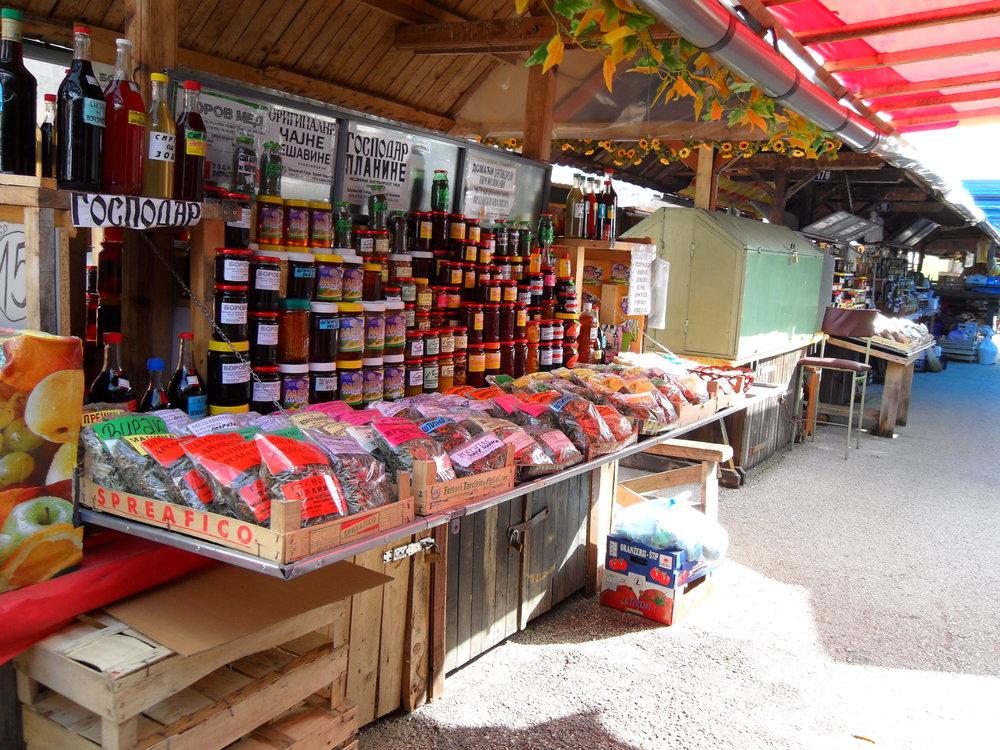 Market stand in Zlatibor, Serbia