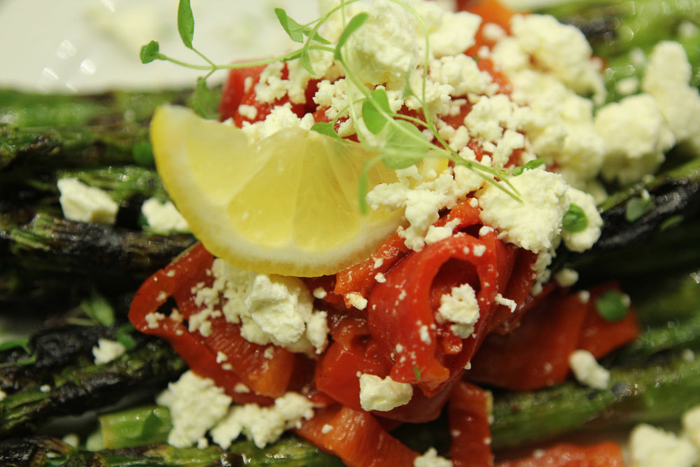 Grilled Asparagus with feta anyone?