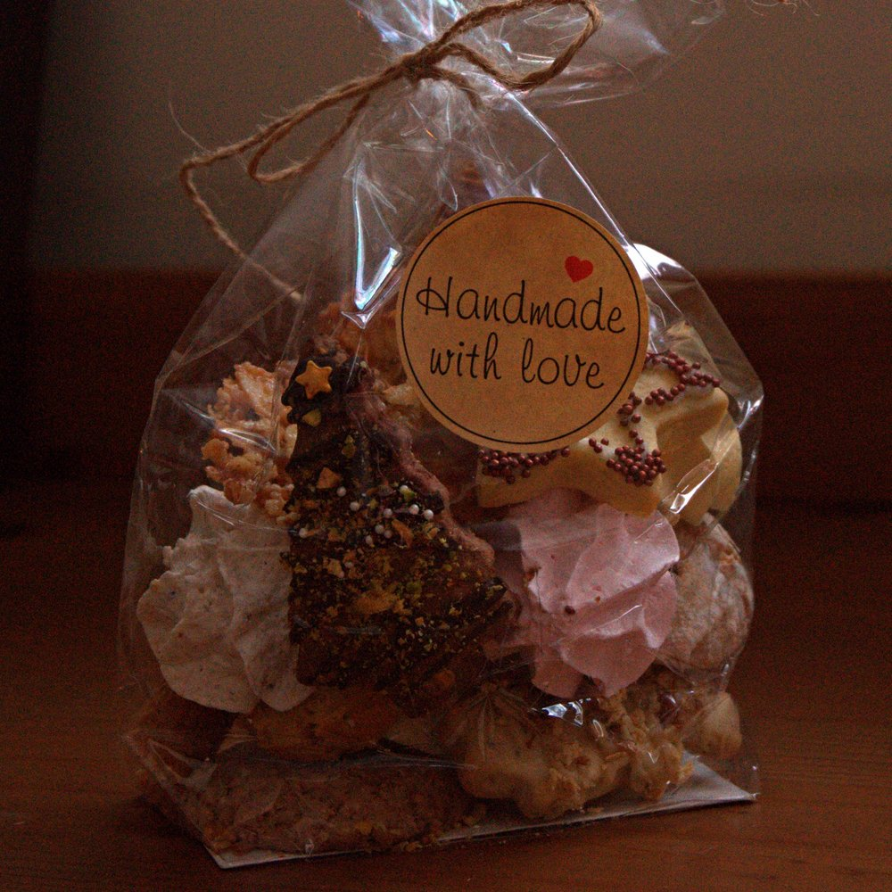 Cookie bag with my egg and chicken delivery! Thanks Ferme Reveuse.