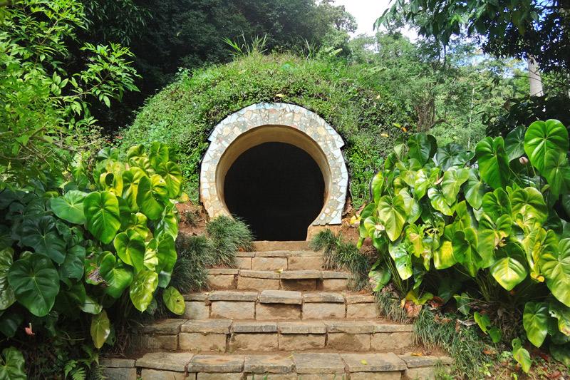 cúpula / domo construído com tijolos adobe