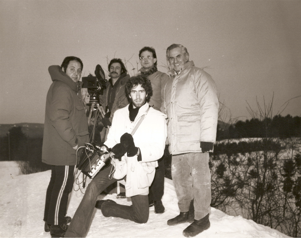 On location in New Hampshire, February 1978.