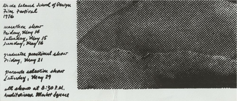 RISD Film Festival 1976 - Program