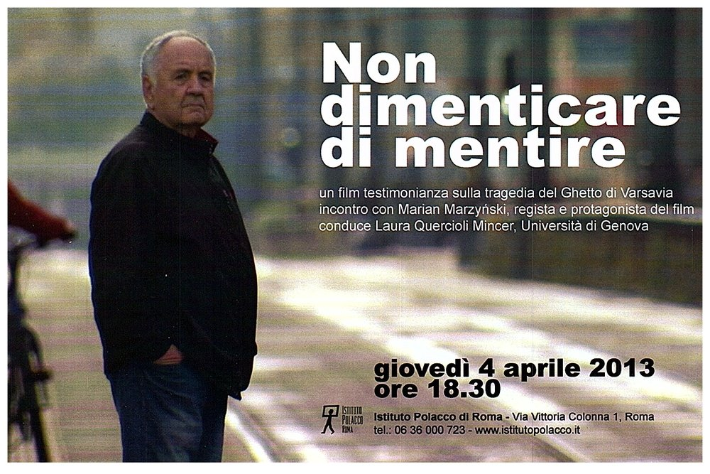 NEVER FORGET TO LIE (2013) the entire film in Italian