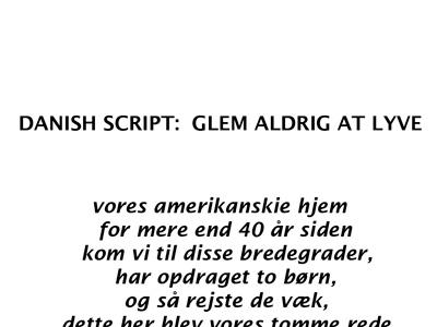 Danish script