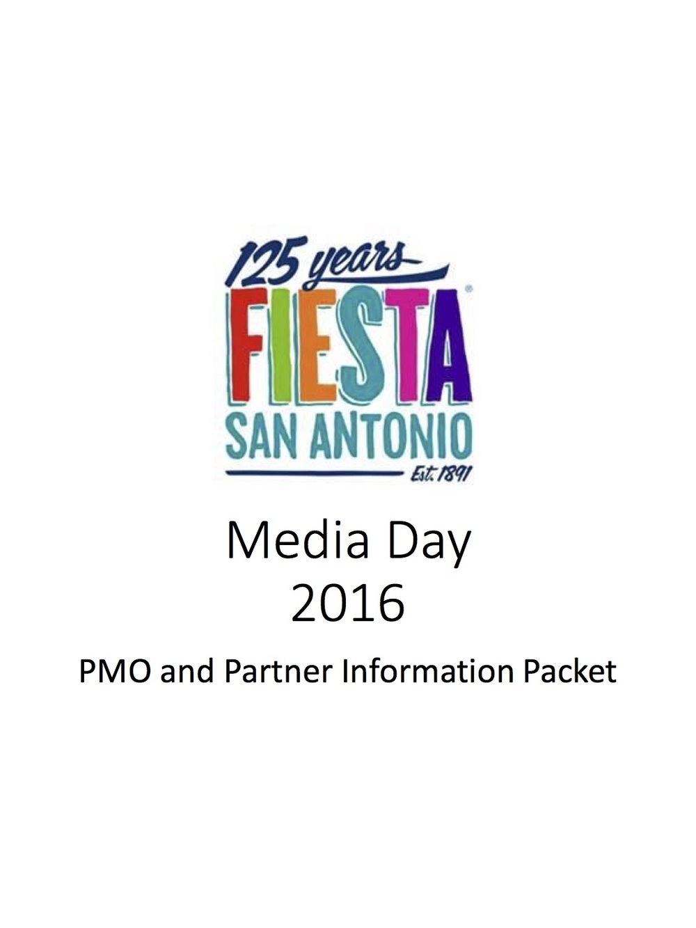 Info Packets: Fiesta Media Day Attendee and Media Pack