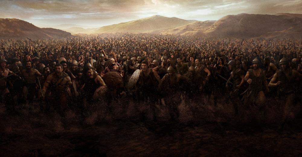 Spartacus leading the slave revolt