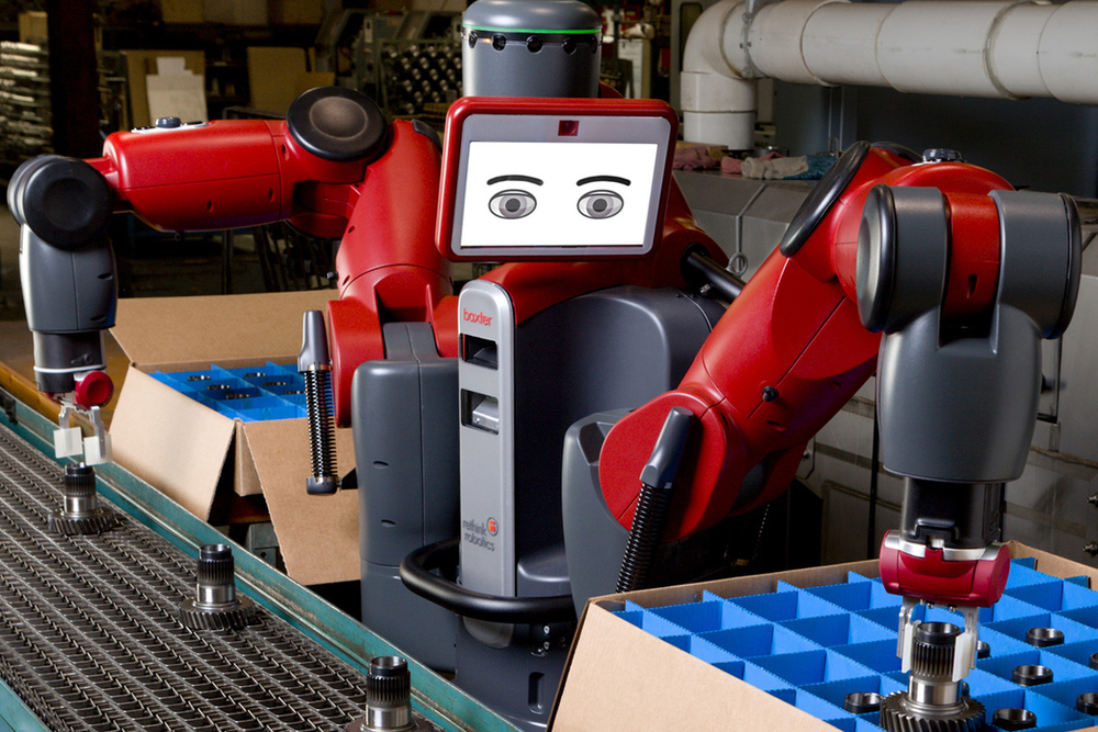 Baxter - The smart, collaborative robot: www.rethinkrobotics.com/baxter