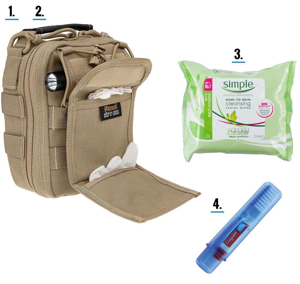 Bug out bag hygiene tips