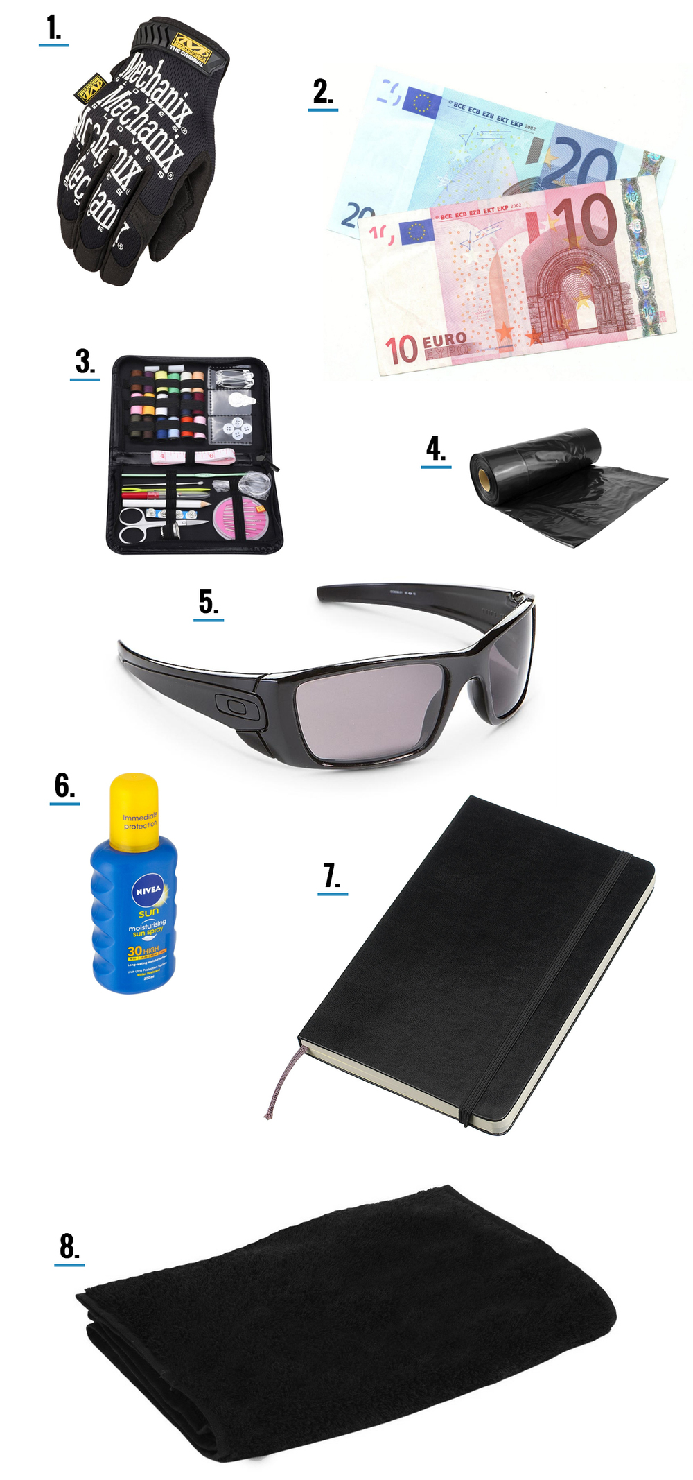 miscellaneous items for your bug out bag