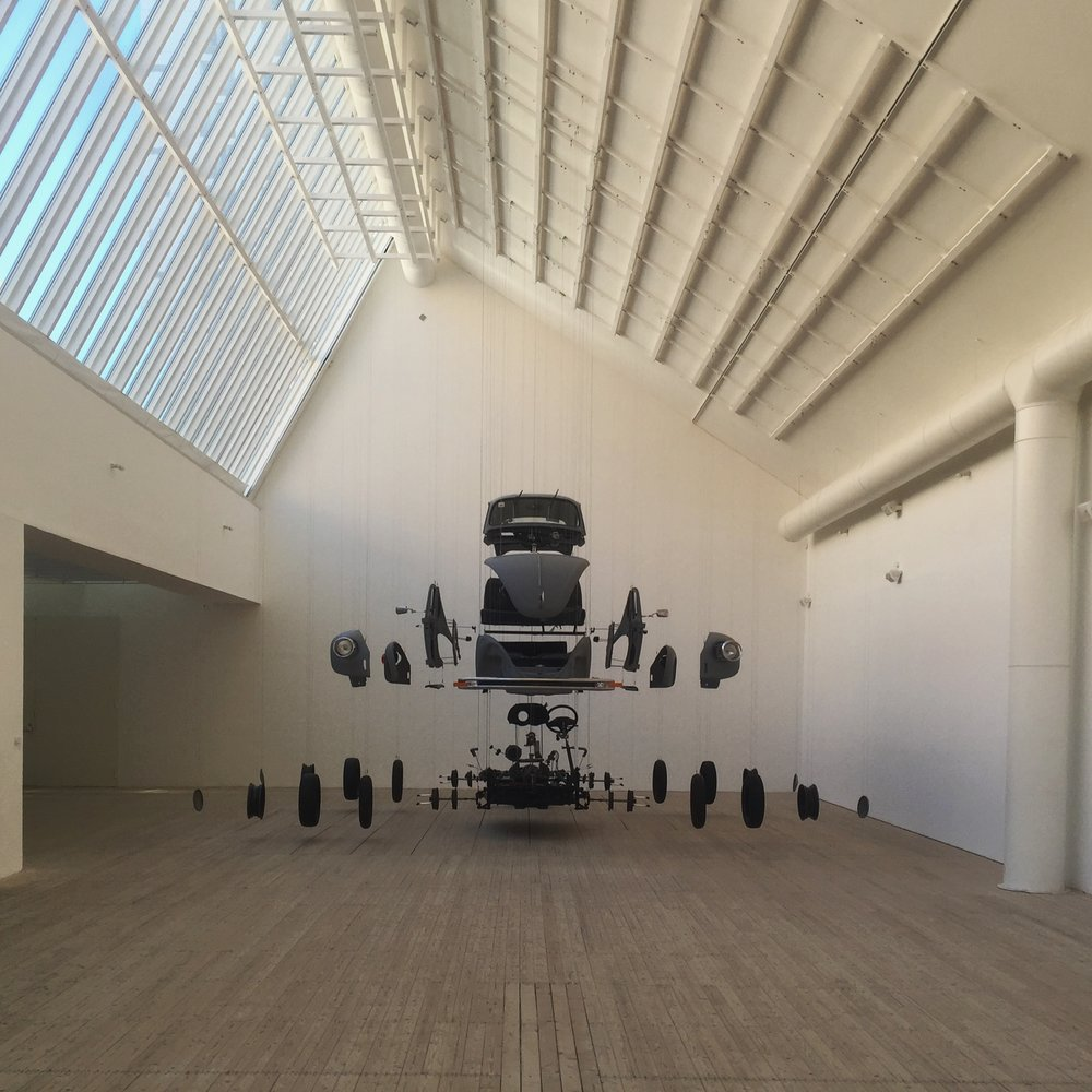....Such space, as we find it at the Konsthall, is not limiting but instead provides a blank canvas and endless opportunities for art to be exhibited and enjoyed....