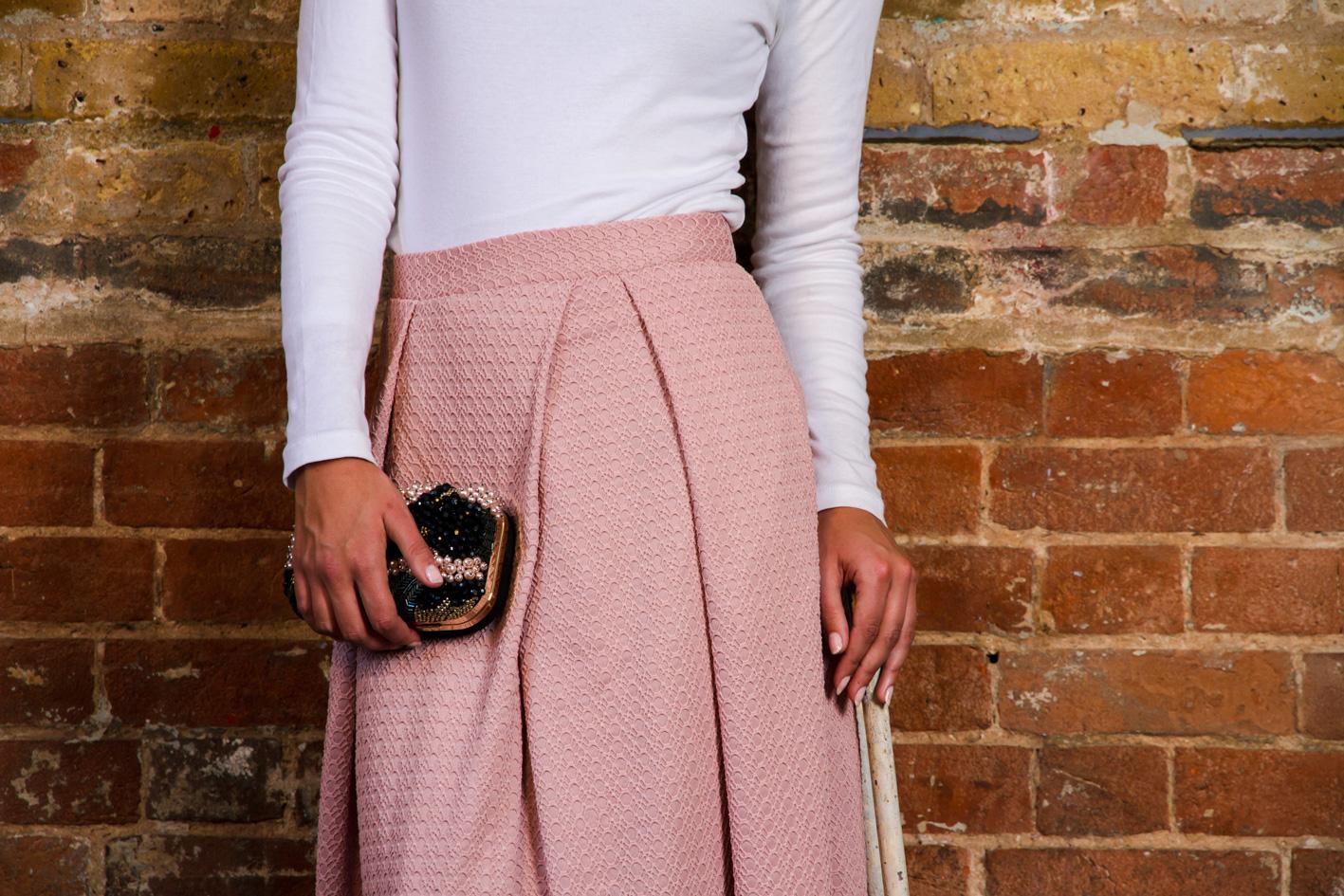 Maha - Dusty Pink Maxi Skirt — Sabihah London