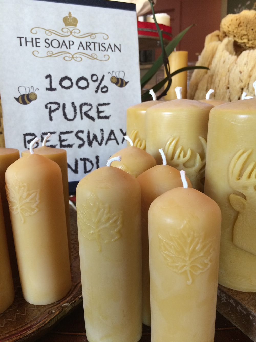Pure Beeswax Candles Medium Temp.JPG